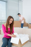 Unpacking stock photo