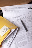 Unpaid Bills stock images