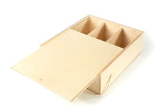 Unpainted a box with compartments Royalty Free Stock Photo