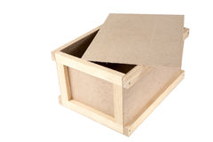 Unpainted a box with compartments Stock Images