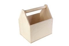Unpainted a box with compartments isolated Royalty Free Stock Photo