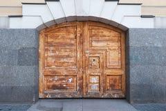 Unpainted textured wooden gate Stock Photos