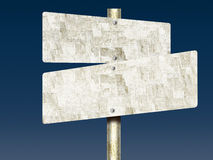 Unpainted Tin Road Signs Stock Photo