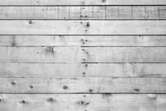 Unpainted wood board wall. Texture background in black and white Stock Images