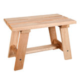 Unpainted wooden bench for a bath Royalty Free Stock Photo
