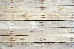 Unpainted wooden fence horizontal Royalty Free Stock Photo