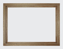 Unpainted wooden window frame. New and unpainted brown wooden window frame, isolated. No glass in frame Stock Photography