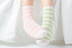 Unpaired sockor Arkivbild