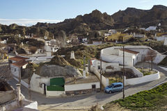 Unparalleled view of Guadix and its fairy chimneys Royalty Free Stock Image