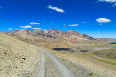 Unparved road at altiplano Royalty Free Stock Photography