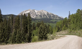 Unpaved mountain road Royalty Free Stock Image