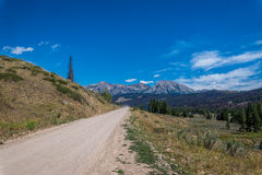 Unpaved mountain road Stock Photo