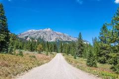 Unpaved mountain road Stock Image