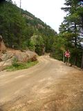 Unpaved moutain road Royalty Free Stock Image
