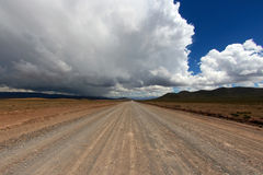 Unpaved road in Andes Royalty Free Stock Photography