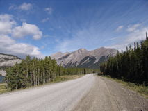 Road to nowhere. Unpaved road near Cannmore, Canada Stock Photography