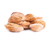 Unpeeled almond isolated Stock Photos