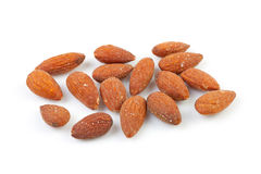 Unpeeled almond nuts Royalty Free Stock Photography