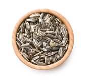 Unpeeled sunflower seeds. Royalty Free Stock Photography