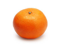 Unpeeled tangerine isolated Royalty Free Stock Photo