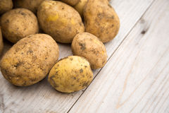 Unpeeled White Potatoes Royalty Free Stock Photos