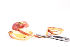 Unpeels apple Royalty Free Stock Photography