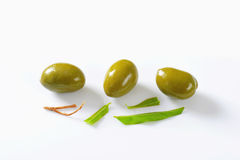 Unpitted green olives Royalty Free Stock Photo