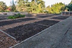 Unplanted Garden Plots Royalty Free Stock Photos