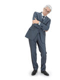 Unpleasant boss. Angry gray-haired boss crossing arms Stock Photography