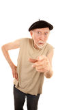 Unpleasant Senior Man Royalty Free Stock Photo