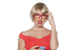 Unpleasant text message Royalty Free Stock Photography