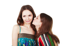 Unpleasant woman kiss Royalty Free Stock Photo