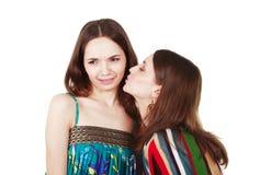Unpleasant woman kiss Royalty Free Stock Photo