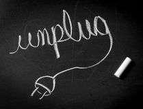 Unplug. From electronics stock photos