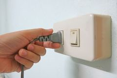 unplug stock photo