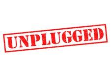 unplugged royaltyfri foto