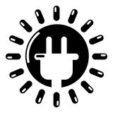 Unplugged electrical plug icon, simple style Royalty Free Stock Photos