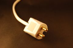 Unplugged power cord Stock Photo