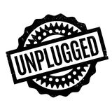 Unplugged rubber stamp Royalty Free Stock Images