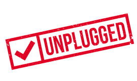 Unplugged rubber stamp Stock Photo