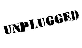 Unplugged rubber stamp Royalty Free Stock Image