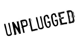 Unplugged rubber stamp Stock Photos