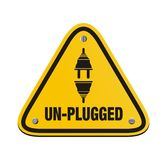 Unplugged triangle signs Royalty Free Stock Images