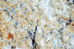 Unpolished marble. Stone face of marble after a slope failure Stock Photography