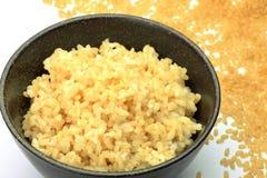 Unpolished rice Stock Photo