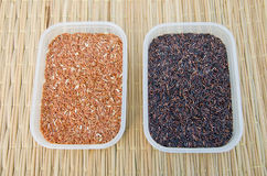 Unpolished rice or brown rice Royalty Free Stock Photography