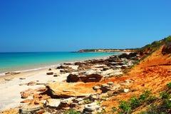 Unpopulated пляж вдоль Индийского океана, Австралии Стоковые Изображения RF