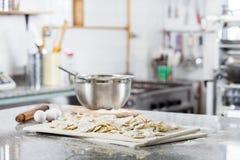 Unprepared Ravioli Pasta At Countertop In Royalty Free Stock Photography