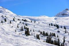 Unprepared ski slope areas Royalty Free Stock Image