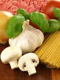 Unprepared spaghetti Stock Photo